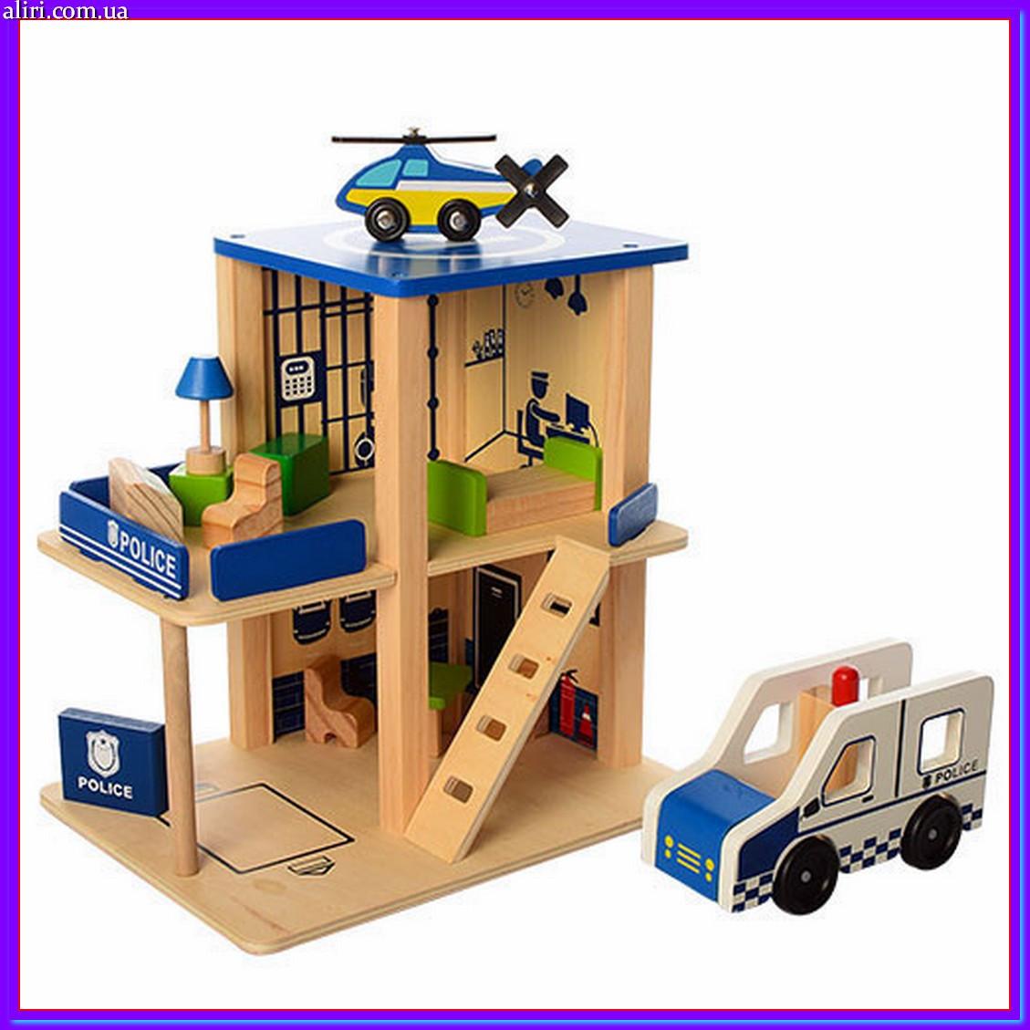 Деревянная игрушка Гараж MD 1059-1 полицейский участок