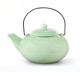 Заварочный чайник 18х14х12см/0.75л с ситечком керамический Fissman