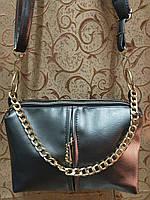 Клатч-сумка эко кожа (серый) 15*23*8