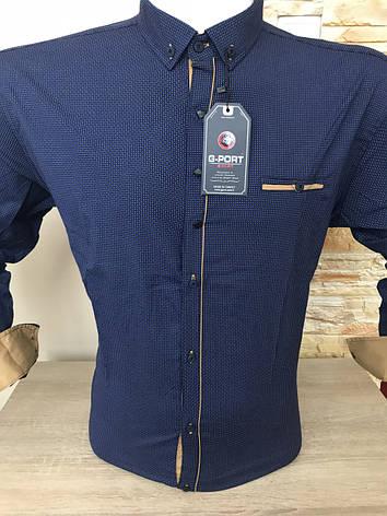 Батальная рубашка стрейч-коттон G-port *725, фото 2