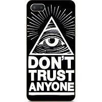 Силиконовый чехол бампер для Iphone 8 plus с рисунком Don't Trust