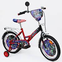 Велосипед Герои 18 18A красный с черным