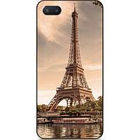 Силиконовый чехол бампер для Iphone 8 plus с рисунком Эйфелева башня