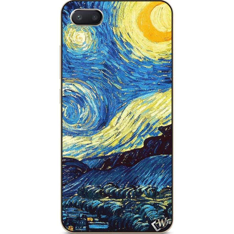 Силиконовый чехол бампер для Iphone 8 plus с рисунком Лунная ночь