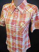 Летние рубашки в клетку с карманом.