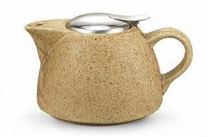 Заварочный чайник 19х14х11см/1л с ситечком керамический Fissman