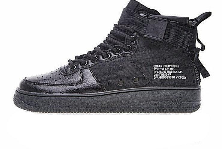Кроссовки Nike Special Field Air Force 1 Mid Black 01
