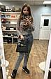 Сумка в стиле Хермес Келли 28см фактура сафьяно, эко-кожа (0373) Белый, фото 7