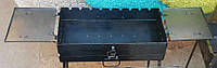 Мангал - чемодан 3 мм. на 9 шампуров с двумя столиками