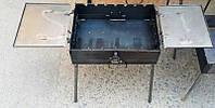 Мангал - чемодан 3 мм. на 7 шампуров с двумя столиками