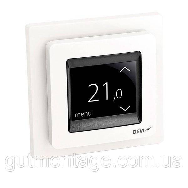 Терморегулятор для теплого пола DEVI DEVIreg-Touch Белый. Монтаж теплых полов в Одессе и области