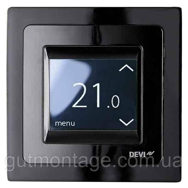 Терморегулятор для теплого пола DEVI DEVIreg-Touch Черный. Монтаж теплых полов в Одессе и области