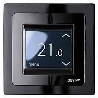 Терморегулятор для теплого пола DEVI DEVIreg-Touch Черный. Монтаж теплых полов в Одессе и области, фото 1