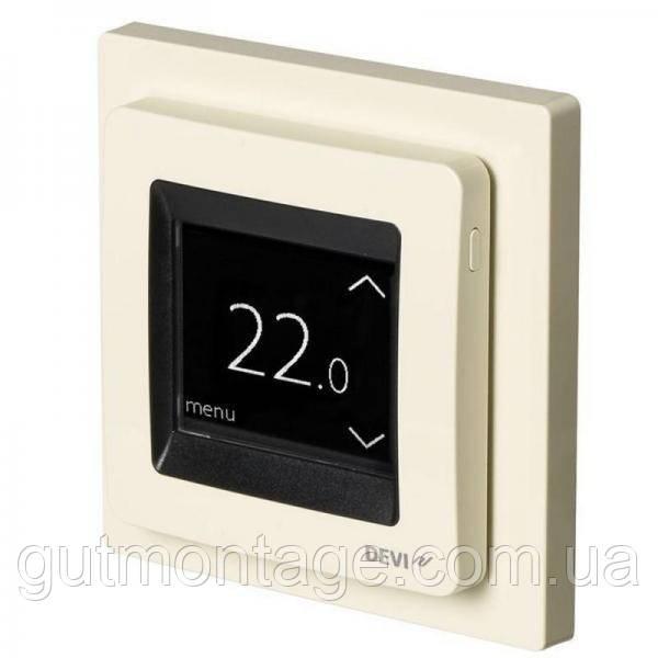 Терморегулятор для теплого пола DEVI DEVIreg-Touch Слоновая кость. Монтаж теплых полов в Одессе и области