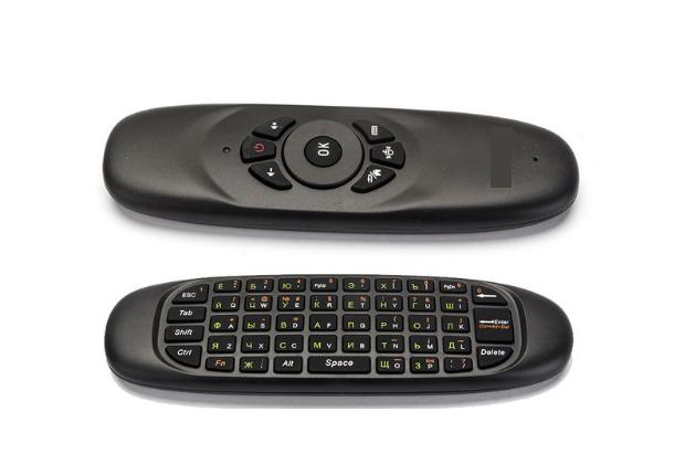 Беспроводная клавиатура/пульт/мышка с гироскопом для Smart TV, ПК, Android TV BOX C120