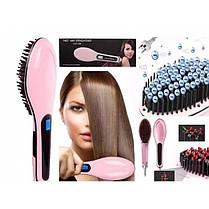 Электрическая расческа-выпрямитель для укладки волос Fast Hair Straightener HQT-906 ( Реплика), фото 2