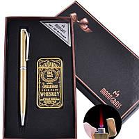 Подарочный набор ручка, зажигалка Jack Daniel's (Турбо пламя)