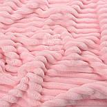 """Два лоскута плюша в полоску """"Stripes""""  светло-розового цвета, размер 25*,75, 50*30 см, фото 2"""