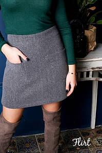 Стильная юбочка с накладными карманами