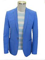 Мужской пиджак №53L - 4218/7 ярко-голубой