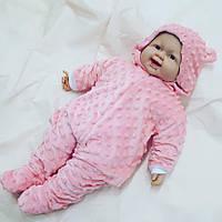 """Человечек для новорожденных 0-3 мес """" Ярко-розовый"""""""