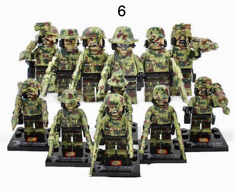 Мини-фигурки камуфляжные спецназовцы swat военные армия лего Lego BrickArms