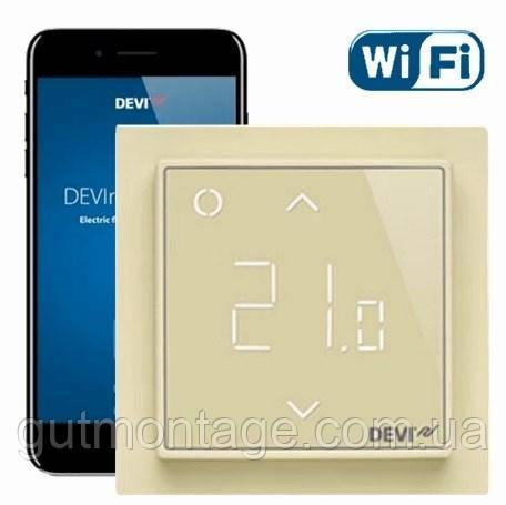 Регулятор Wi-Fi для теплого пола DEVI DEVIreg Smart Слоновая кость. Установка теплых полов в Одессе и области