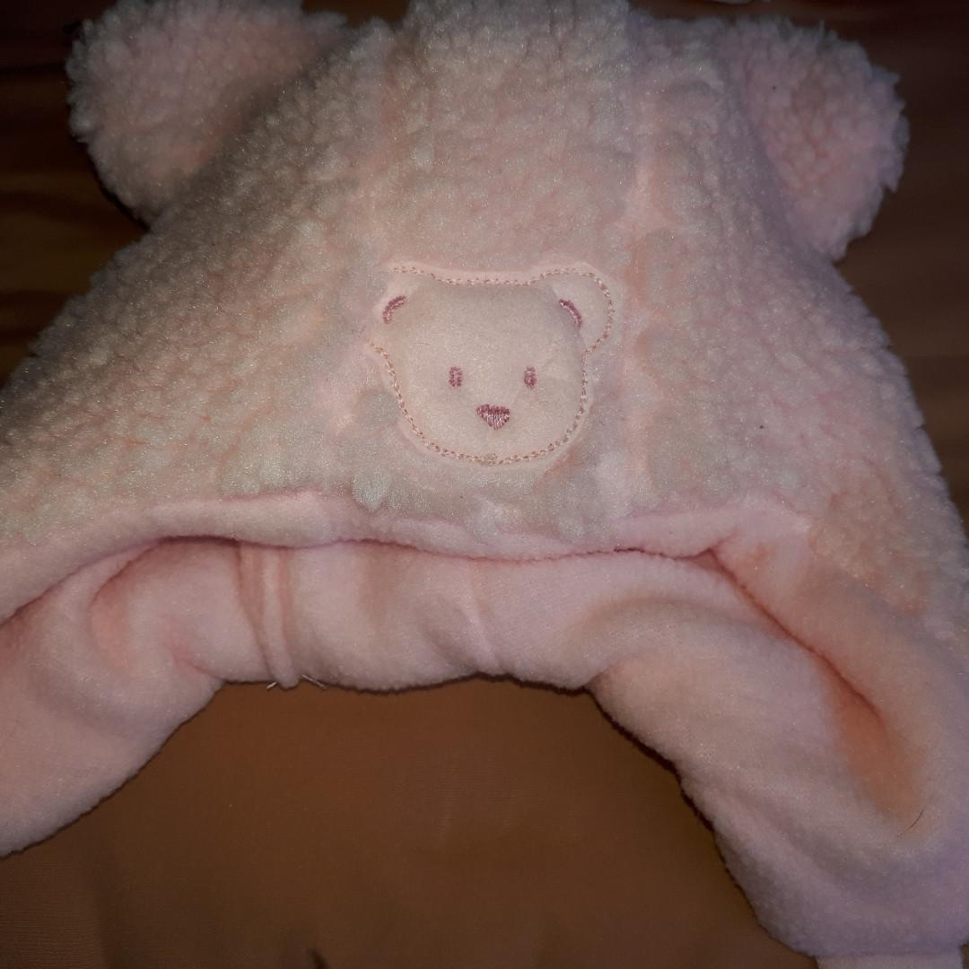 Меховая шапочка для девочки на подкладке