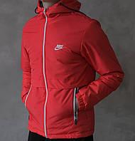 fb0d614aa72ba Куртка мужская найк демисезонная красная синтепоновая (реплика) Jacket Nike  Red