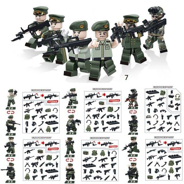 Мини-фигурки 2 в 1 спецназовцы swat военные армия лего Lego BrickArms