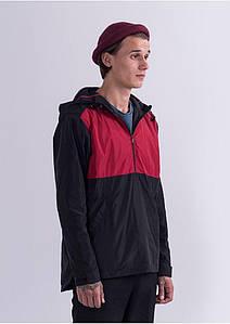 Анорак куртка вітровка Escape - Classic Красно черная (мужская/чоловіча)