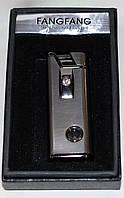Зажигалка карманная газовая, металлическая, с подсветкой, фото 1