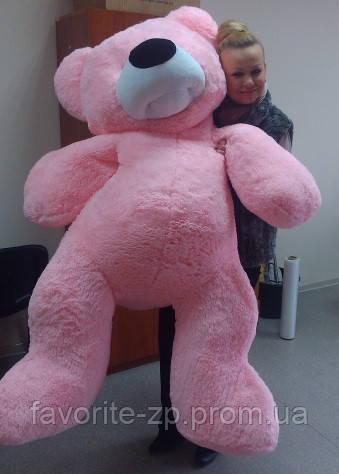 Большой плюшевый розовый мишка 180 см