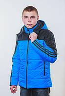 Куртка  мужская весна-осень синяя, фото 1