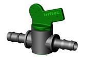 Кран для капельной трубы Irritec 16х16 (ерш-ерш)