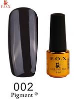 Гель-лак F.O.X Pigment 002 (черный) 6 мл