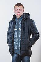 Куртка мужская на синтепоне черная, фото 1