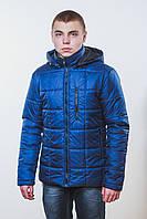 Куртка мужская на синтепоне темно-синяя, фото 1