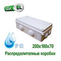 Розподільна коробка 200x100x70 Такела IP65