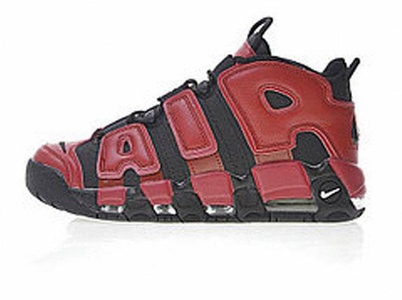 Мужские кроссовки Nike Air More Uptempo QS Black Red, фото 2