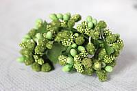 Декоративные веточки облепихи 6  шт/уп. травянистого цвета, фото 1