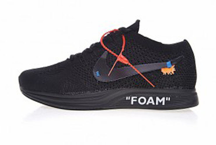 Мужские кроссовки Off-White x Nike Flyknit Racer