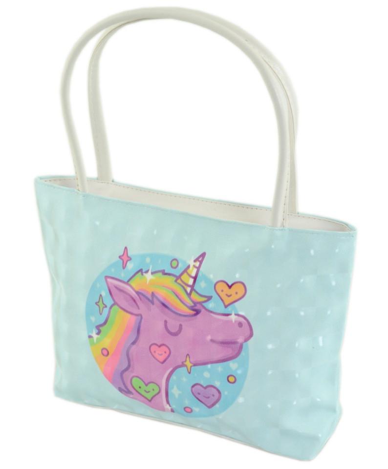 9a8154676f0a Детская мини-сумочка Traum 7007-49, с рисунком единорога, голубого цвета -