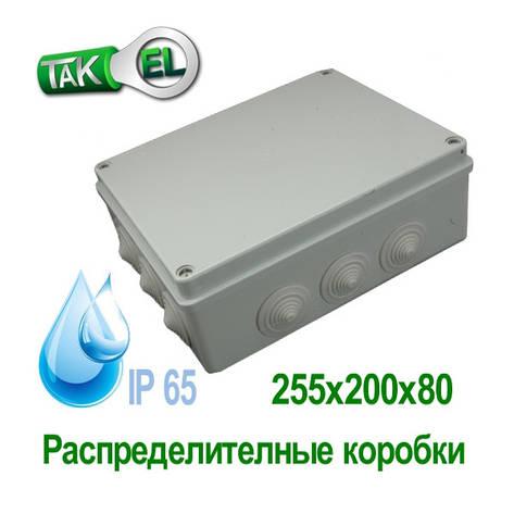 Розподільна коробка 255x200x80 Такел IP65, фото 2