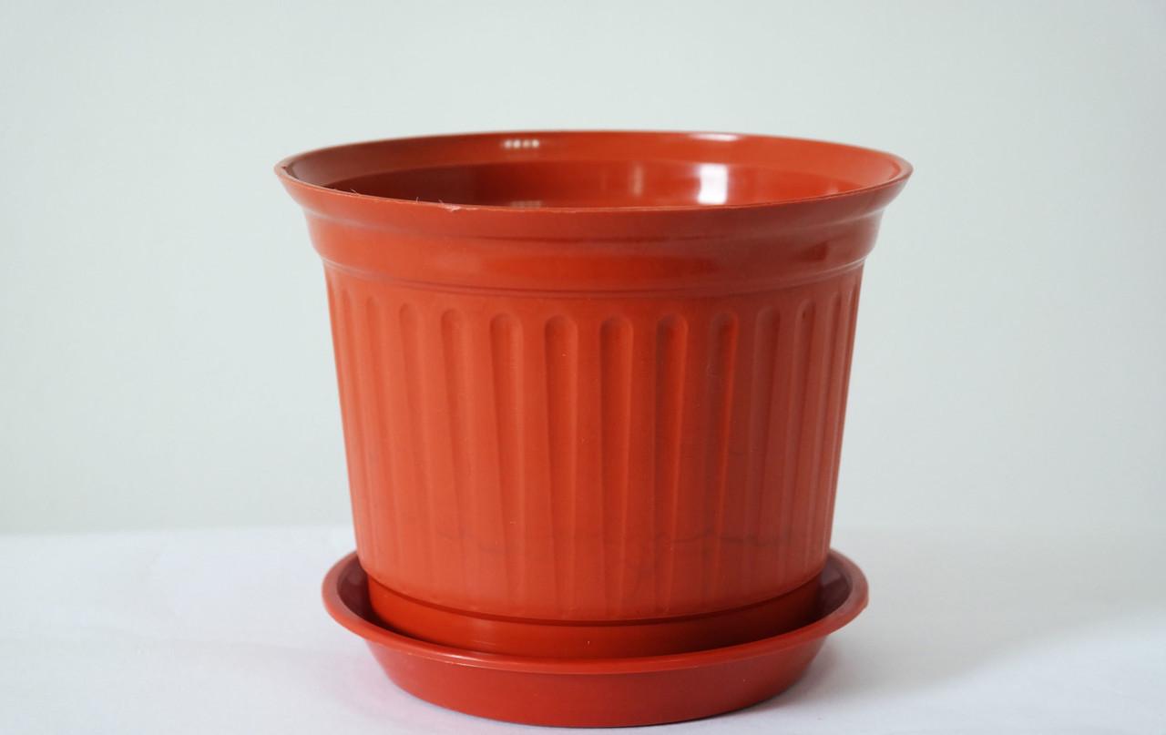 Горшок для цветов Равенна Терракотовый 27,5 см 8,2 литра без подставки