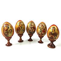 Пасхальное яйцо на подставке икона Божией Матери №02