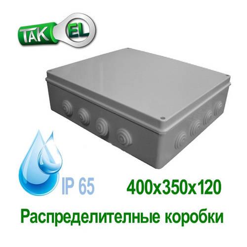 Розподільна коробка 400x350x120 Такел IP65
