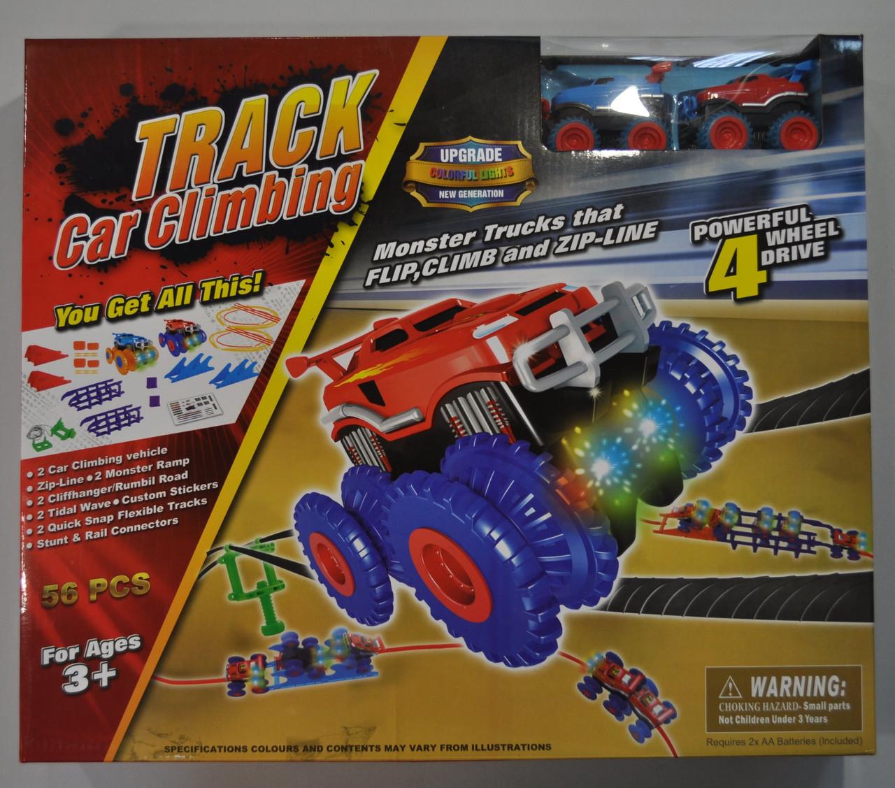 Набор Trix Trux Огромный 56 деталей 2 машинки монстр-траки и 2 комплекта препятствий