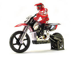 Мотоцикл 1:4 Himoto Burstout MX400 Brushed (красный)
