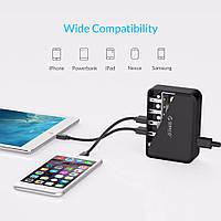 Сетевое зарядное устройство ORICO DCAP-5 black 5 портов USB 2.4А 5V 40 Wt для смартфона, планшета